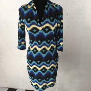 Rachel Roy Collared V-neck Dress